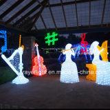 La Navidad adorna la decoración grande de la iluminación del día de fiesta del LED