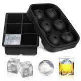 Cube de glace de la FDA en silicone moule pour congélateur des conteneurs (YB-AB-014)