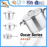 18/10 de Cookware 6PCS ajustado do aço inoxidável (OSK-1624)