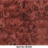 Borgoña Burl Hidrográfico de la madera de transferencia de agua de la película Nº M-229