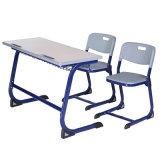 학교 교실 가구 학생 두 배 테이블과 의자