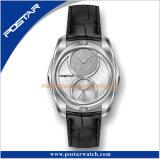 El reloj del movimiento del doble del diseño de la tendencia con la arena arruinó la dial