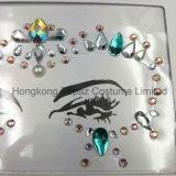 2018 Newset piel ojos Sticker adhesivo acrílico cristal gema pegatinas cara Diamante (E47)
