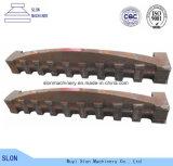 Grille employée couramment de broyeur de pièces de défibreur d'acier de manganèse
