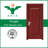 ヨーロッパ様式経済的な内部の木の四捨五入されたMDF PVCドア(WFP-022)