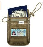 Преграждать-Скрынный бумажник держателя RFID пасспорта с планкой шеи