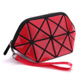 La chiusura lampo geometrica piegante di Necessaries di trucco delle 2017 donne di nuova dell'estetica dei sacchetti corsa di modo compone l'organizzatore del sacchetto