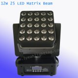 25X12W Déplacement de la tête de matrice à LED lumineux