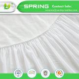 防水低刺激性のビニールの自由な反ダニ塵によって合われるカバー双生児のホーム綿のテリーのマットレスの保護装置