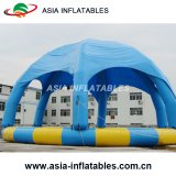 Открытый бассейн с водой надувных круглой формы с палатки