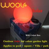 LED RGB 공의 태양 빛은 정원 공원을%s 돌을 삼승한다