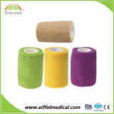 Comercio al por mayor Non-Woven elástico adhesivo médico Venda cohesiva con ISO Ce FDA