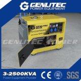 генератор одиночной фазы 5kVA 5kw портативный молчком тепловозный