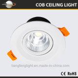 공장 가격 알루미늄 LED Downlight 스포트라이트 7W