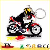 Catena chiave del PVC di figura della motocicletta per il regalo di promozione