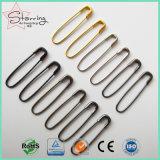 卸売はハングの札のためのフランスPin 22mm鋼鉄U字型安全ピンを着色する