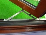 낮은 E, 두 배 단단하게 한 유리를 가진 알루미늄 오크재 여닫이 창 Windows,