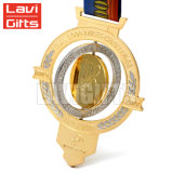 Medaille van de Vorm van het Hart van de Douane van de Verkoop van de lage Prijs de Hoogste Rode