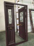 Double porte de modèle de type européen en aluminium neuf de porte pour la garantie de villa