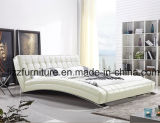 Mobilia moderna del re Size Italian Leather Bed