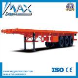 3axles 20FT 40FT Flachbett-Behälter-Transport-halb Schlussteil für Verkauf