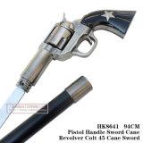 Espada 94cm HK8641 do bastão do potro 45 do revólver do bastão de espada do punho da pistola