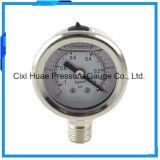 完全なステンレス鋼の液体の圧力計