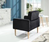 Sola silla del sofá del brazo de la oficina copetuda moderna de la tela