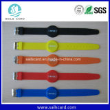 Bracelet d'IDENTIFICATION RF de silicones de la puce Ntag203 pour le contrôle d'accès/piscine
