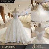 2018 Manguitos de lujo bordado con reborde pesado vestido de novia