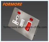 Великобритания стандарта 45A Dp плита переключаемое с неоновыми индикаторами ожидающего/ разъем многофункциональной рукоятки