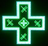 Cruz programável ao ar livre do diodo emissor de luz da farmácia da cor P8 cheia
