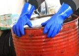 Пвх устойчив к химическим безопасности рабочие перчатки с хлопок Блокировка тормозных колодок