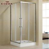 O canto moldou o cerco do chuveiro do quarto de chuveiro com as duas portas deslizantes