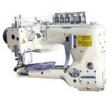 Tipo de brazo curvo de cuatro agujas seis cables doble corte y la máquina de coser para los pantalones