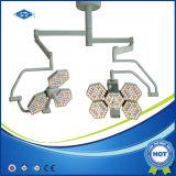 새로운 디자인 세륨 (SY02-LED5+5-TV)를 가진 천장에 의하여 거치되는 LED Shadowless 외과 극장 빛