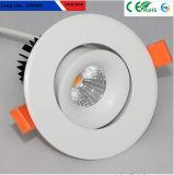 Shenzhen, la calidad para interiores fuerte Chip COB Downlights LED 6W Australia