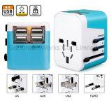 Adaptador de viaje con 4 puerto USB Plug en diferentes países