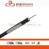 Câble coaxial blindé à faible perte RG6 pour la vidéosurveillance/CATV