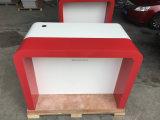 Fabricante da tabela de jantar superior de mármore de superfície contínua quadrada moderna do restaurante de Corian e do projeto ajustado das cadeiras