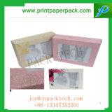 Rectángulo de regalo de papel rígido modificado para requisitos particulares de la cartulina de lujo con la ventana para los rectángulos plásticos