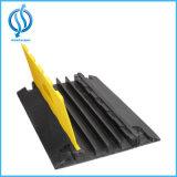 Fertigung-China-Gummidoppelfixierbarer 2 Kanal-Straßen-Kabel-Gummischoner