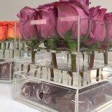 Resistente al agua de acrílico cuadro Personalizado de flores rosas Caja con cajones de Chocolate