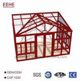 Beweglicher weißer AluminiumrahmenSunroom mit ausgeglichenes Glas-Haus-Dach