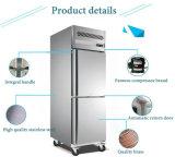 2 portas de congelador Stainless-Steel