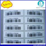 Tamanho personalizado de papel autocolante Pet Adesivo etiqueta com código de barras e impressão com holograma