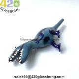 "4 "" verre haut de gamme DINOSAURHandpipe 420 la fumée de tabac"
