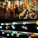 Fio de cobre impermeável ao ar livre G40 caracteres de LED de luz com mudança de cor RGB