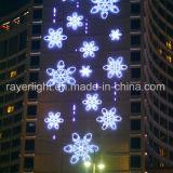 LED de luz blanca del copo de nieve adorno para Navidad decoración