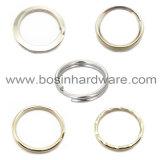 anello chiave spaccato increspato metallo d'argento di 30mm